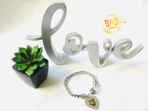 Browns Heart Bracelet