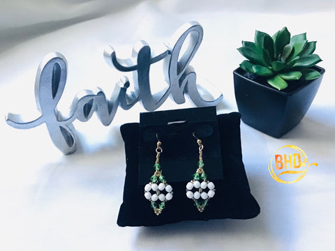 Peridot Green Swarovski Crystals Earrings