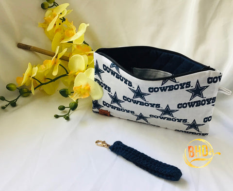 Cowboys Wristlet|Clutch|Toiletries Bag