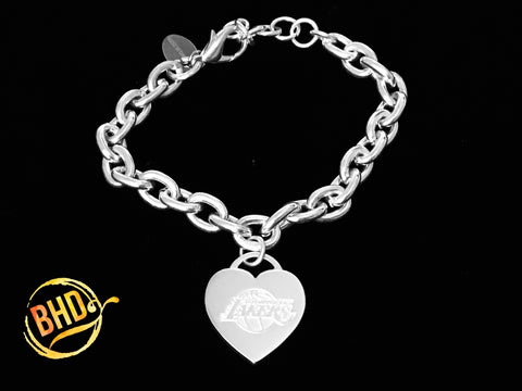 Lakers Link Heart Bracelet