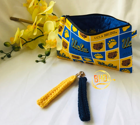 UCLA Wristlet|Clutch|Toiletries Bag
