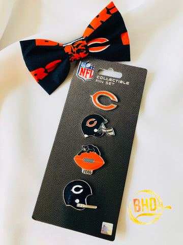 Bears Lapel|Hat Pin Bow Tie Set