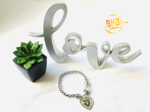 Raiders Heart Bracelet
