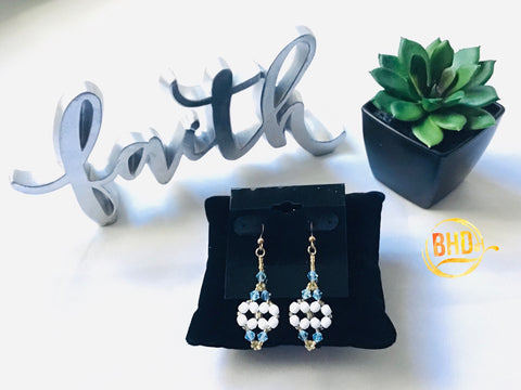 Lt. Sapphire Swarovski Crystals Earrings