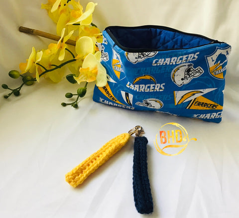 Chargers Wristlet|Clutch|Toiletries Bag