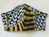 African | Ankara Print Mask with Filter Pocket
