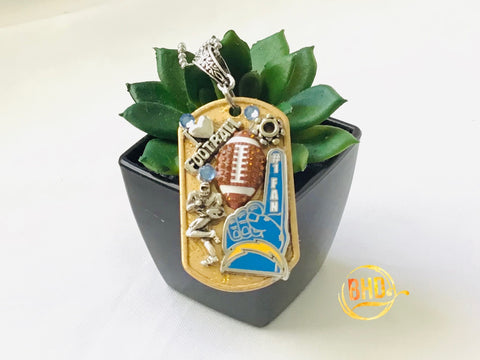 Chargers Football DogTag