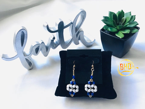 Majestic Blue Swarovski Crystals Earrings