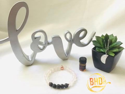 Rose Quartz Diffuser Bracelet & Essential Oil Set