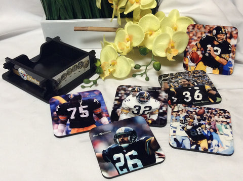 Steelers Legends Coasters Set