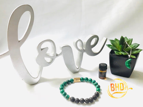 Malachite Diffuser Bracelet & Essential Oil Set