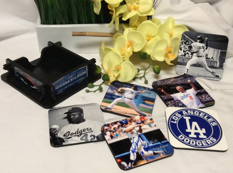 Dodgers Legends Coasters Set