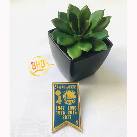 Warriors Championship Banner Pin