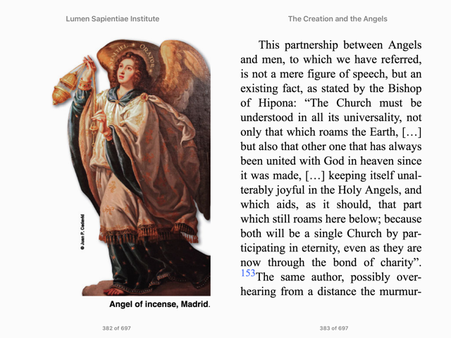 The Creation and the Angels is written by a team of Catholic professors from the St. Thomas Aquinas Theological Institute, EPub Format, all about the angels by greatest theologians and popular saints, traditional teaching published by new insights multimedia