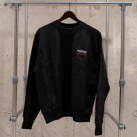 """PURPOSE"" Champion Reverse Weave Crewneck - Black"