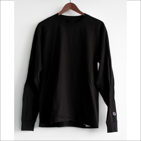 NVSN Black Champion Edition Box Logo Long Sleeve T-Shirt