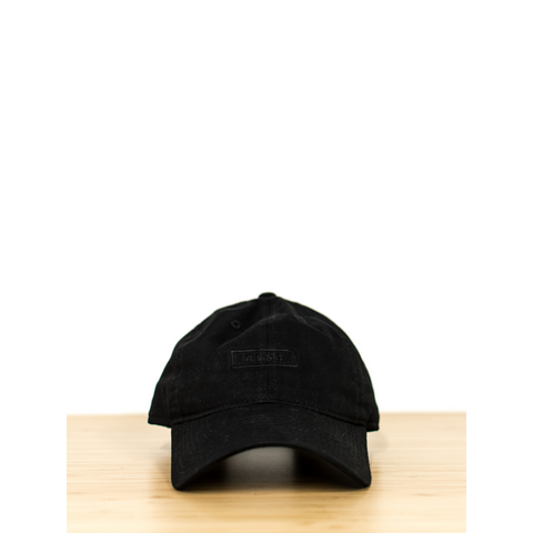 Box logo Baseball Hat - Black/black