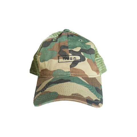 Box logo Trucker Hat - Camo
