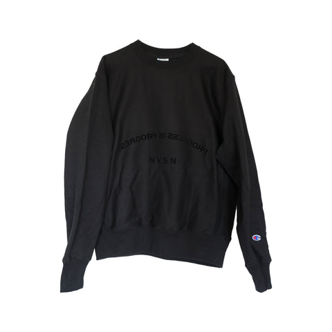 Black Champion Reverse Weave Edition Crew Neck