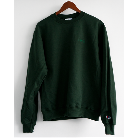 NVSN Forest Green Champion Edition Box Logo Crewneck