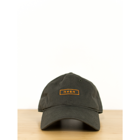 Box logo Baseball Hat - Olive/orange