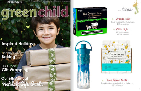 Green Child Magazine - Featuring Blue Splash - Holiday 2016