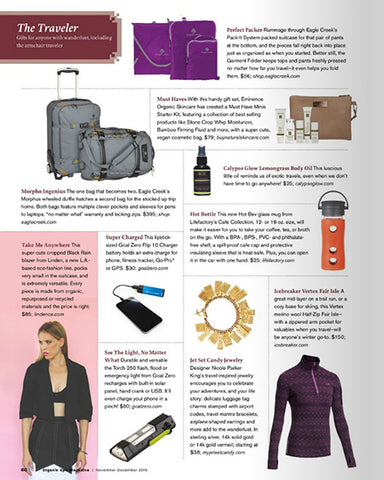 Organic Spa Magazine - Featuring Café Collection - December 2015
