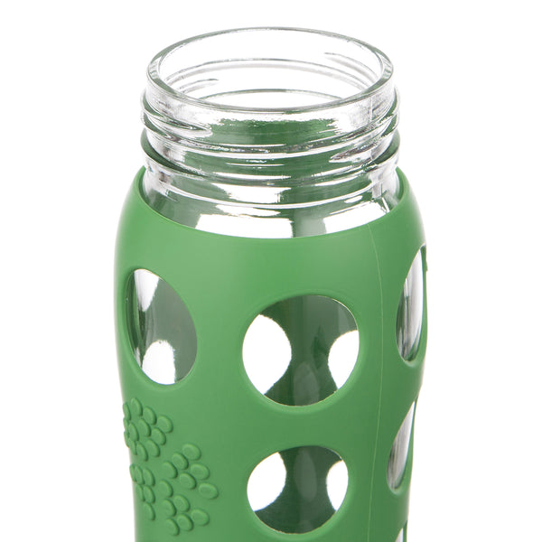Water Bottle Uses: 22 Oz Glass Water Bottle With Straw Cap And