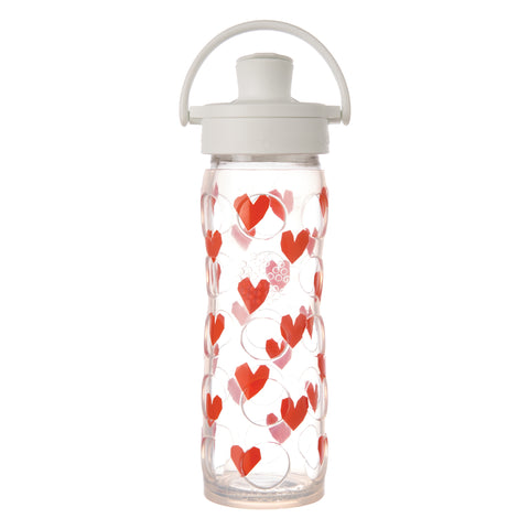 Lifefactory 16 oz Glass Water Bottle with Active Flip Cap and Silicone Sleeve - Tru Luv