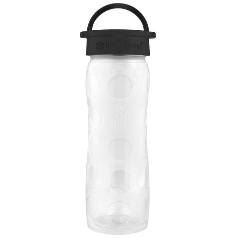 16 oz Glass Bottle with Classic Cap and Silicone Sleeve, White Ombre