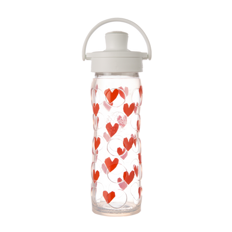 16 oz Glass Bottle with Active Flip Top Cap and Silicone Sleeve - Tru Luv