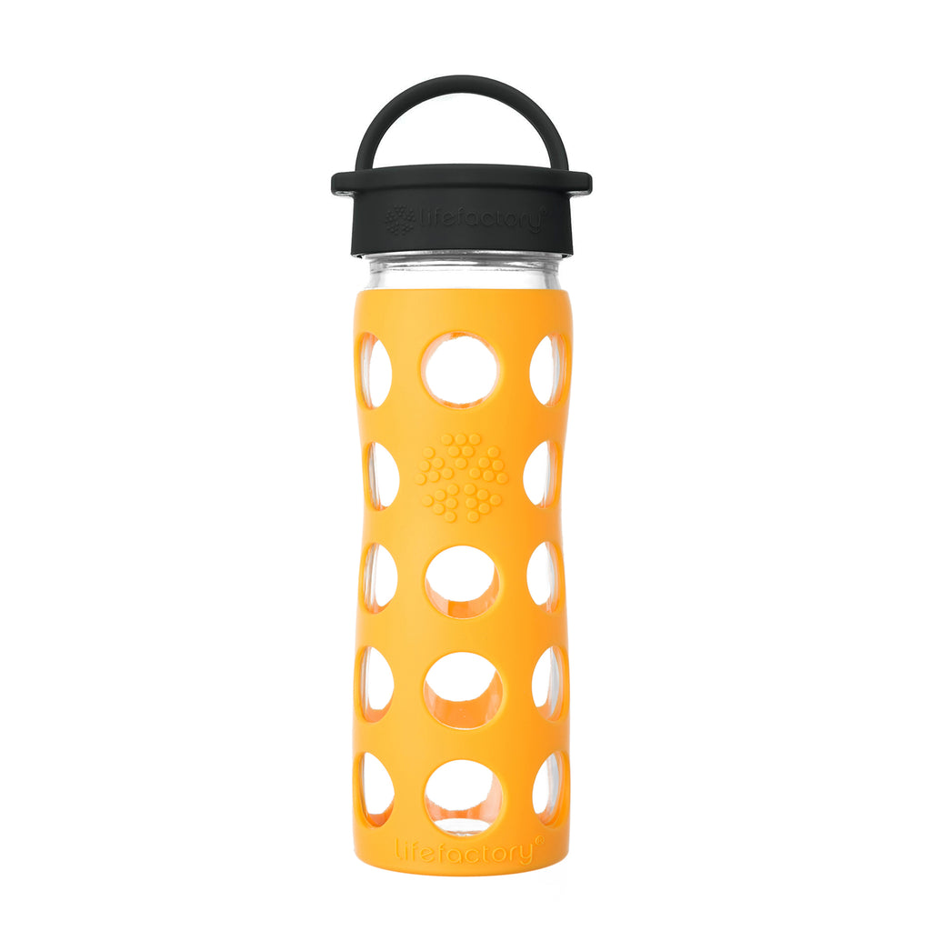 cbeea6a93ab Lifefactory 16 oz Glass Water Bottle - Marigold – Lifefactory.com