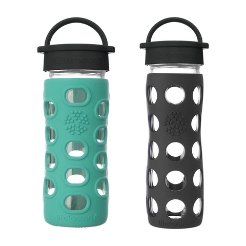 12 oz. Kale Glass Bottle & 16 oz. Onyx Glass Bottle