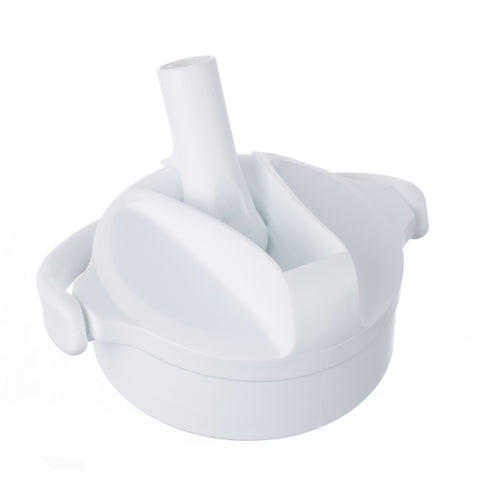 Optic White Pivot Straw Cap for 12, 16 and 22oz Bottles