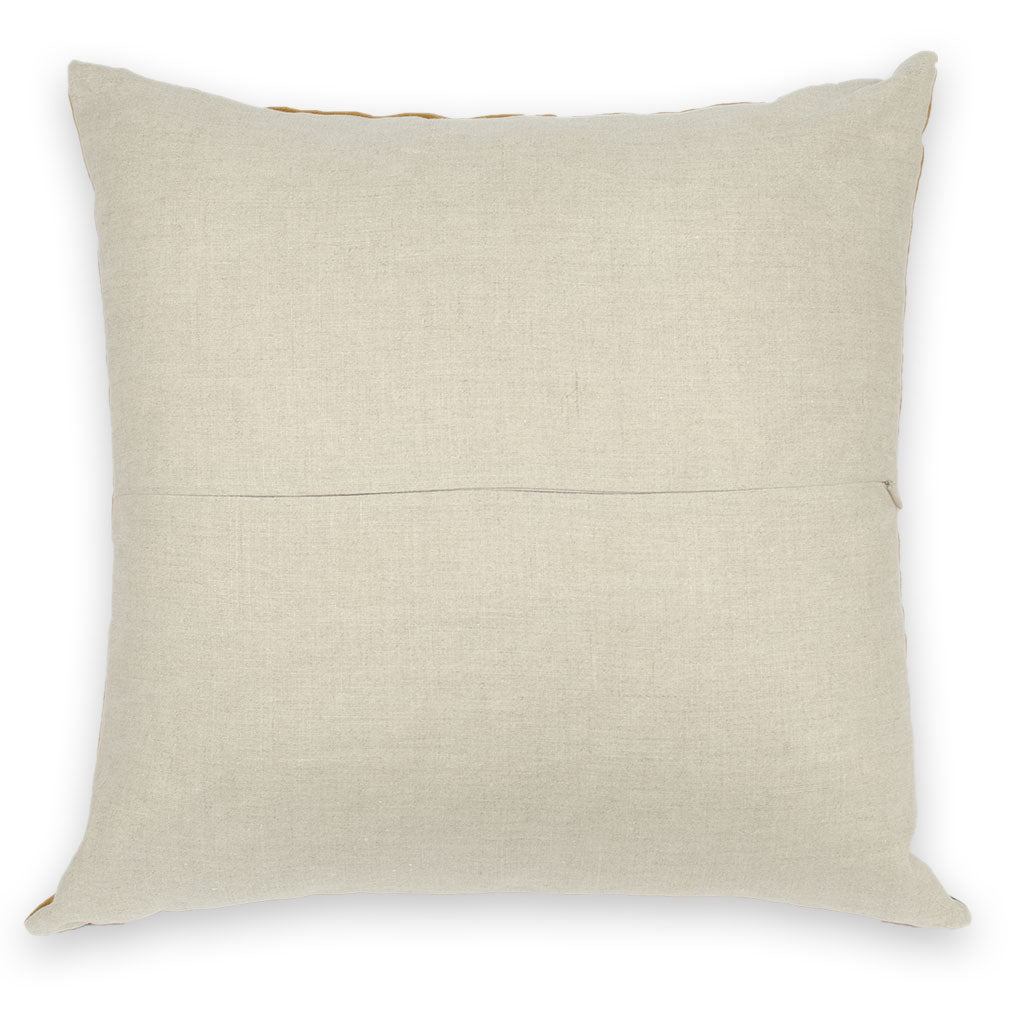 Umber Meridian Patchwork Pillow Cover