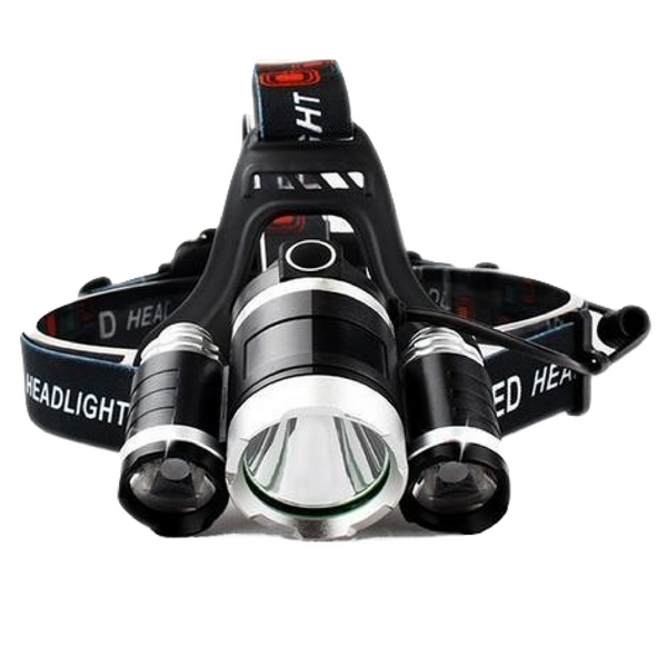 LED Headlight / Head Lamp / Flashlight 9000 Lumen - 3x XM-L T6 LED