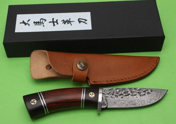 Handmade Damascus knife 67 layer Damascus steel Ebony+red pear wood handle