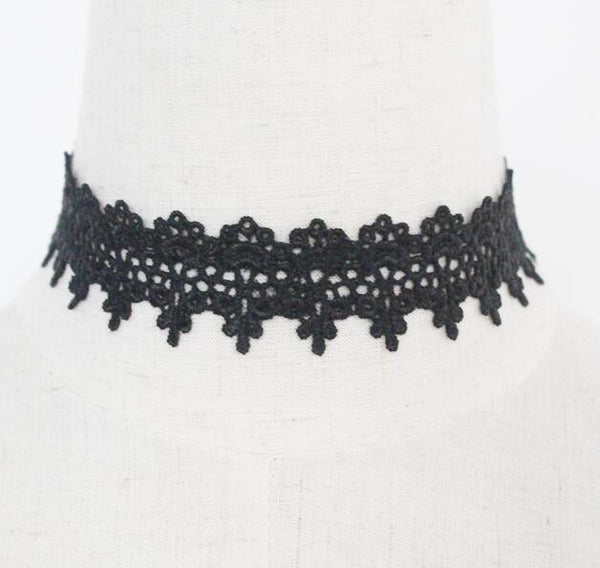 Newest  fashion jewelry accessories white &black Lace Tattoo choker necklace for couple lovers'  N106