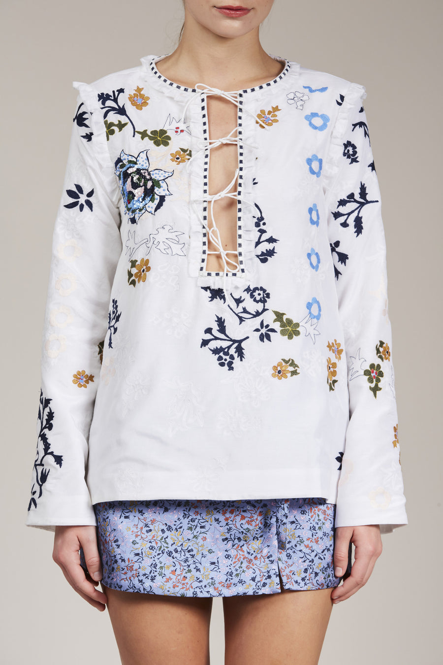 Penny Blouse by Elliette in White