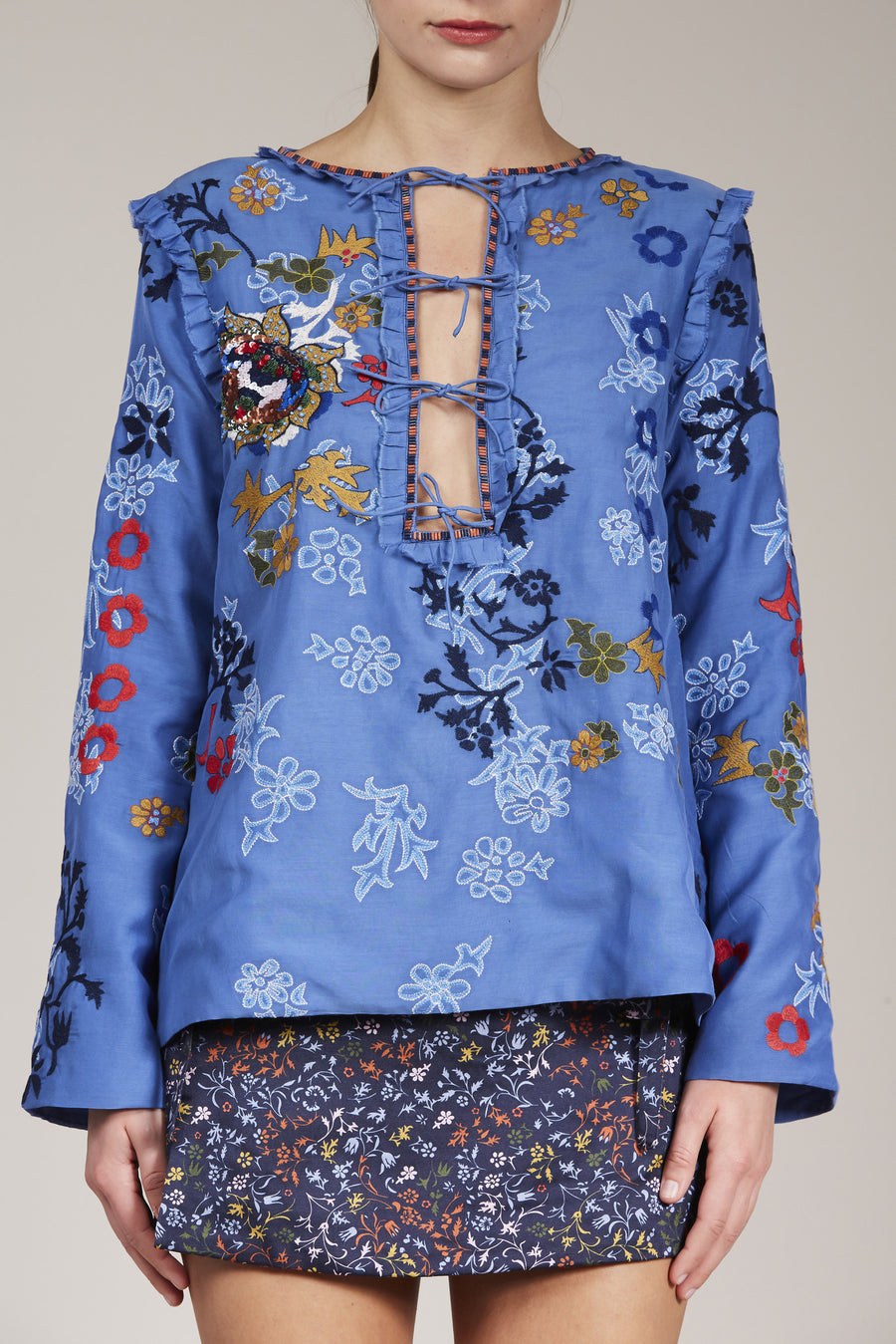 Penny Blouse by Elliette in Blue