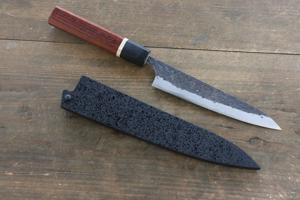 Black Saya Sheath for Petty Chef's Knife with Plywood Pin-180mm - Seisuke Knife