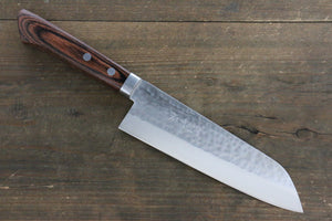 Kunihira VG1 Hammered Santoku Japanese Chef Knife 170mm with Bolster - Seisuke Knife