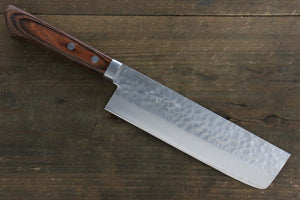 Kunihira VG1 Hammered Usuba Japanese Chef Knife 165mm with Bolster - Seisuke Knife