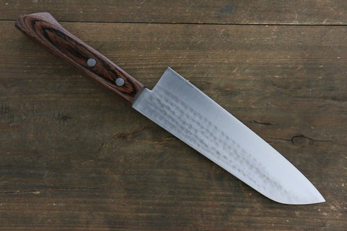 Kunihira VG1 Hammered Santoku Japanese Chef Knife 170mm - Seisuke Knife