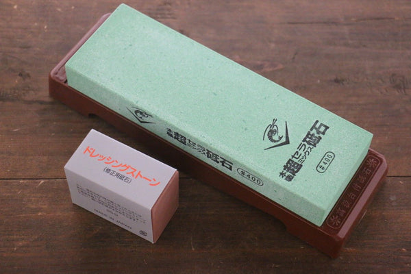 Naniwa Ceramic Coarser Sharpening Stone with Plastic Base- #400 - Seisuke Knife