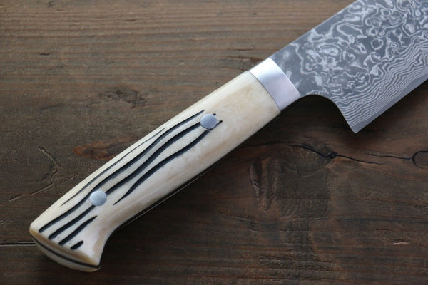 Saji R2/SG2 Black Damascus Gyuto Japanese Chef Knife 240mm wtih Deer Horn handle