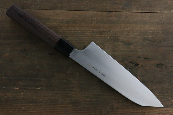 Seisuke Molybdenum Vanadium Kiritsuke Santoku Japanese Chef Knife 170mm Shitan Handle