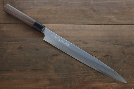 [Left Handed] Hideo Kitaoka White Steel No.2 Damascus Yanagiba Japanese Chef Knife 270mm
