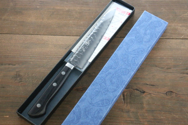 Seisuke VG1 3 Layer  Hammered Petty-Utility Japanese Chef Knife 135mm