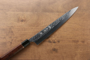 Yu Kurosaki Raijin Cobalt Special Steel Hammered Sujihiki Japanese Knife 240mm with Special Edition Handle - Seisuke Knife